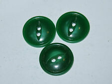 4 16mm Green Fisheye Vintage Buttons 1960-1980s