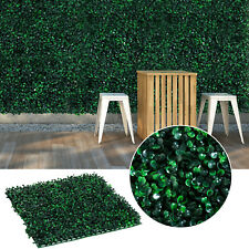 "12pc 20""x 20"" Artificial Boxwood Hedge Mat Plant Panels Greenery Walls Outdoor"