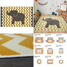 Lucky Elephant Yellow 7 Ft. 6 In. X 10 Ft. Whimsical Area Rug