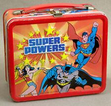 Super Powers lunchbox with great colors. Superman, Batman & Robin, Wonderwoman