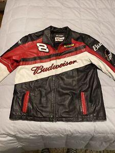 wilson leather jacket budweiser dale ernhardt Large