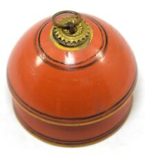 Indian Wooden Made Collectible Round Shape Small Jewelry Storage Box. i71-291 Us