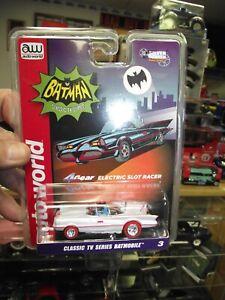 Auto world 1/64 TV Series batmobile white lightning slot car NIB