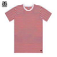 AS Colour ASColour Print Men Blank Plain Staple Red Stripe T-Shirt Tee Cotton
