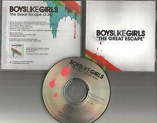 BOYS LIKE GIRLS The Great Escape 2006 USA  PROMO Radio DJ CD Single MINT