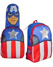 Marvel Comics Hooded Backpack Rucksack Captain America - Official - UK Seller