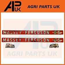 NEW Decal Sticker Set Massey Ferguson 65 Tractor Bonnet Stickers MF Fergie
