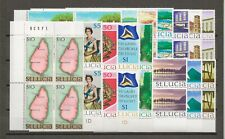 More details for st lucia 1970-3 sg 276/89a mnh blocks of 4 cat £52
