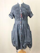 BNWT Joe Browns Day Dream Denim Shirt Dress With Pockets & Flowers UK Size 12