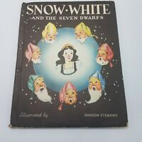 Vintage HC Snow White and the Seven Dwarfs 1946 Illustrated Sharon Stearns w DJ
