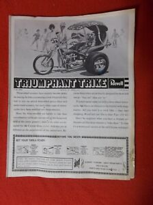 REVELL TRIUMPHANT TRIKE  H-1223-600  Instruction sheets book