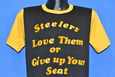 vtg 70s Pittsburgh Steelers Love Them Or Give Up Seat Fans Football t-shirt M