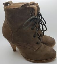 Next Urban Vintage Ankle Boots Steam Punk Suede Brown Lace Up Heeled UK 6.5/40