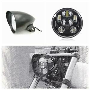 """5.75"""" matt black LED daymaker bullet headlight Harley DYNA FXD SUPER GLIDE FXR"""