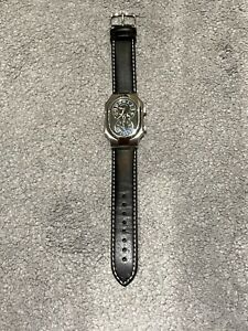 Philip Stein Signature Leather Mens Watch Dual Dial