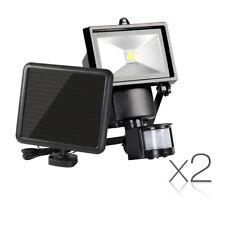 2 X  COB LED Solar Motion Detection Sensor Security Garden Super Bright Lights