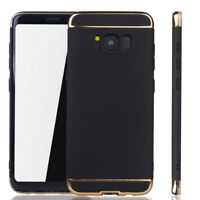 Cell Phone Case Protective Case for Samsung Galaxy S8 Bumper 3 in 1 Cover Chrome