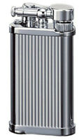 IM Corona Old Boy Pipe Lighter Chrome with Lines 64-3306 New in Box