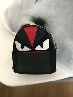 Fendi Monster Backpack Keychain New / Accessories Black and Red