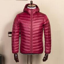 Mens Ultralight Down Jackets puffer hooded red wine outwear 3XL best warm coats