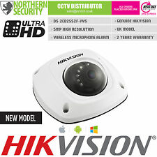 Hikvision 5MP 4 mm 1080P Micrófono Audio POE ONVIF P2P IR Cámara IP WiFi Mini Domo Cctv