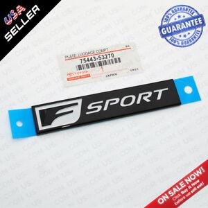 Lexus Gloss Black F-Sport Logo ABS Badge Trunk Luggage Lid 3D Emblem Decoration