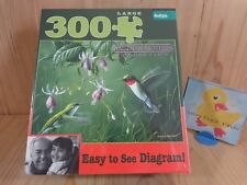 HUMMINGBIRDS AND FUCHSIA Jigsaw Puzzle 300 Pieces Hautman Bros Buffalo Games