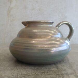 Vintage Lustreware Pottery Jug Squat Impressed crown mark on base English? 900ml