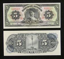 Mexico Paper Money 5 Pesos 1963 UNC