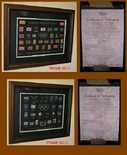 *SYDNEY 2000 OLYMPIC GAMES*Stamps Pin Set & 104 years Pin Set.Matching No Frames