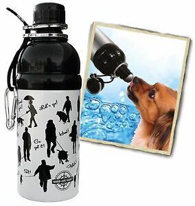 "Bulk Lot 34 units-16 oz. ""Walking Dog"" Stainless Steel Pet Water Bottle-BPA-Free"
