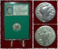 Roman Empire Coin LUCIUS VERUS Providentia With Globe On Reverse Silver Denarius