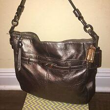 Coach Chelsea Silver Pewter Metallic Ashlyn Leather Shoulder Bag Purse 18211