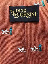 DOG PEEING ON FIRE HYDRANT Vintage Necktie Dino Orsini