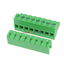 10sets 2EDG 8Pin Plug-in Screw Terminal Block Connector 5.08mm Pitch Right Angle
