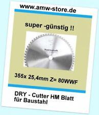 HM Sägeblatt Dry Cutter 355 x 25,4mm Z=80 Baustahl Metall Eisen Jepson Rigid Mak