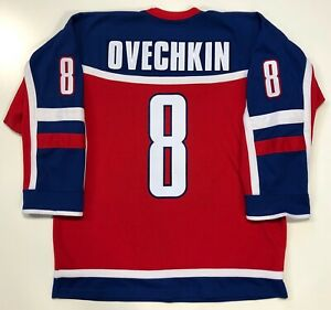 ALEX OVECHKIN WORLD JUNIORS NIKE TEAM RUSSIA JERSEY LARGE WASHINGTON CAPITALS