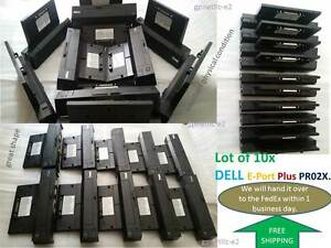 Lot of (10) Dell E-Port Plus PR02X Docking Station Replicator.