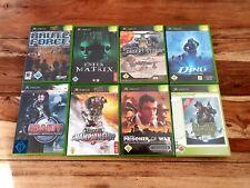 Xbox Classic Spiele Sammlung: Das Ding, Unreal, Brute Force etc. Guter Zustand.