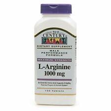 21st Century L-Arginine 1000mg, Maximum Strength 100 ea