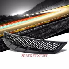 Black Diamond Mesh Style Replacement Front Grille For 06-08 Civic FG1 SOHC/DOHC
