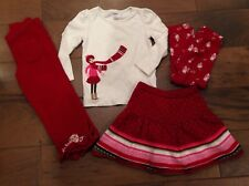 Gymboree Cozy Owl Girls 3 3t lot bundle leggings skirt pants shirt Holiday