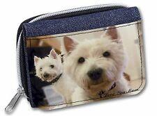Bull Terrier+Rose /'Love You Mum/' Girls//Ladies Denim Purse Wallet AD-BUT2RlymJW