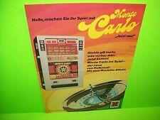 Hellomat Automaten MONTE CARLO Original Slot Machine Promo Flyer German Text