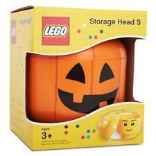 New Lego Storage Head Brick Container Arrange Box Case Small Size - Pumpkin