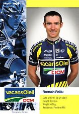 CYCLISME carte cycliste ROMAIN FEILLU équipe VACANSOLEIL