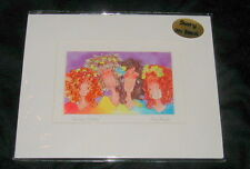 2003 SUZY TORONTO SIGNED MATTED ART PRINT, WE ARE SISTERS, TINGLE HEART SERIES