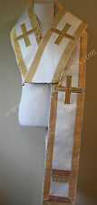 Orthodox Bishop's Omophors Large Omophorion White Gold