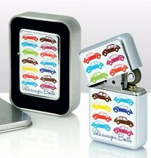 VW Volkswagen Multicoloured Beetle Windproof Cigarette Lighters  Gift Tin Case
