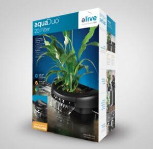 Elive AquaDuo 20 Gallon Aquarium Filter Fish Tank Aquaponics Power Hydrocorn